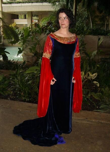 Arwen's Blood Red Dress by Yvette